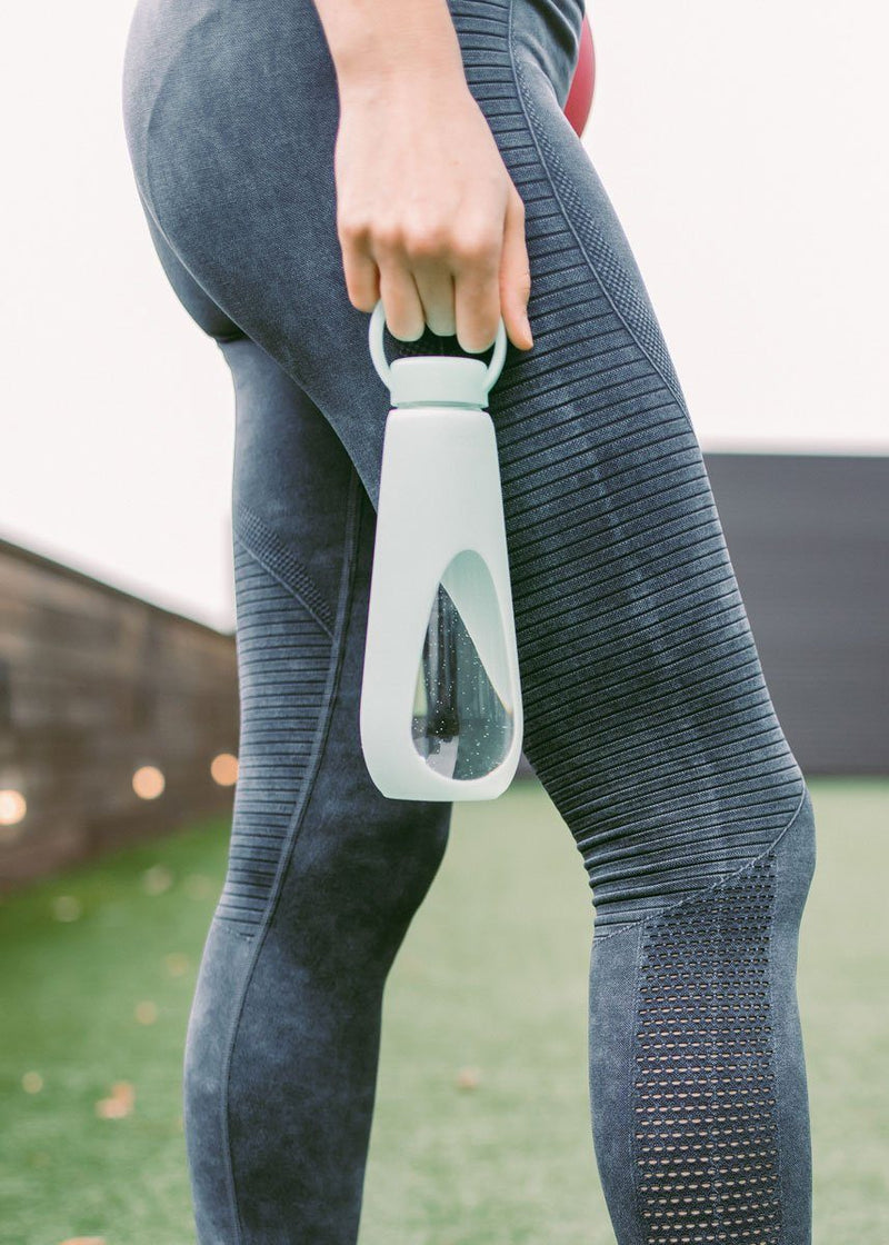 Revive Glass Water Bottle - Teal