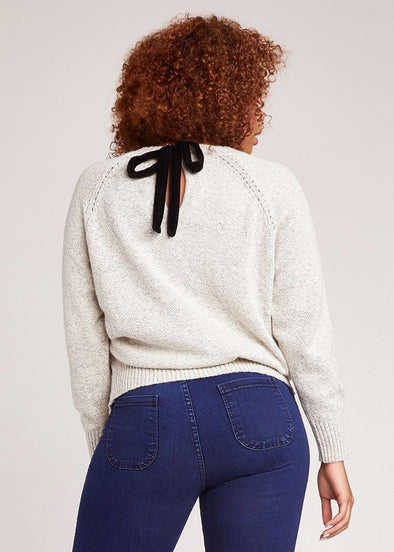 Secret Bow-Mance Sweater - Ivory