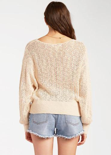 Feel The Breeze Sweater - White Cap