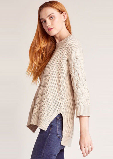 We've got cable sweater - Oatmeal