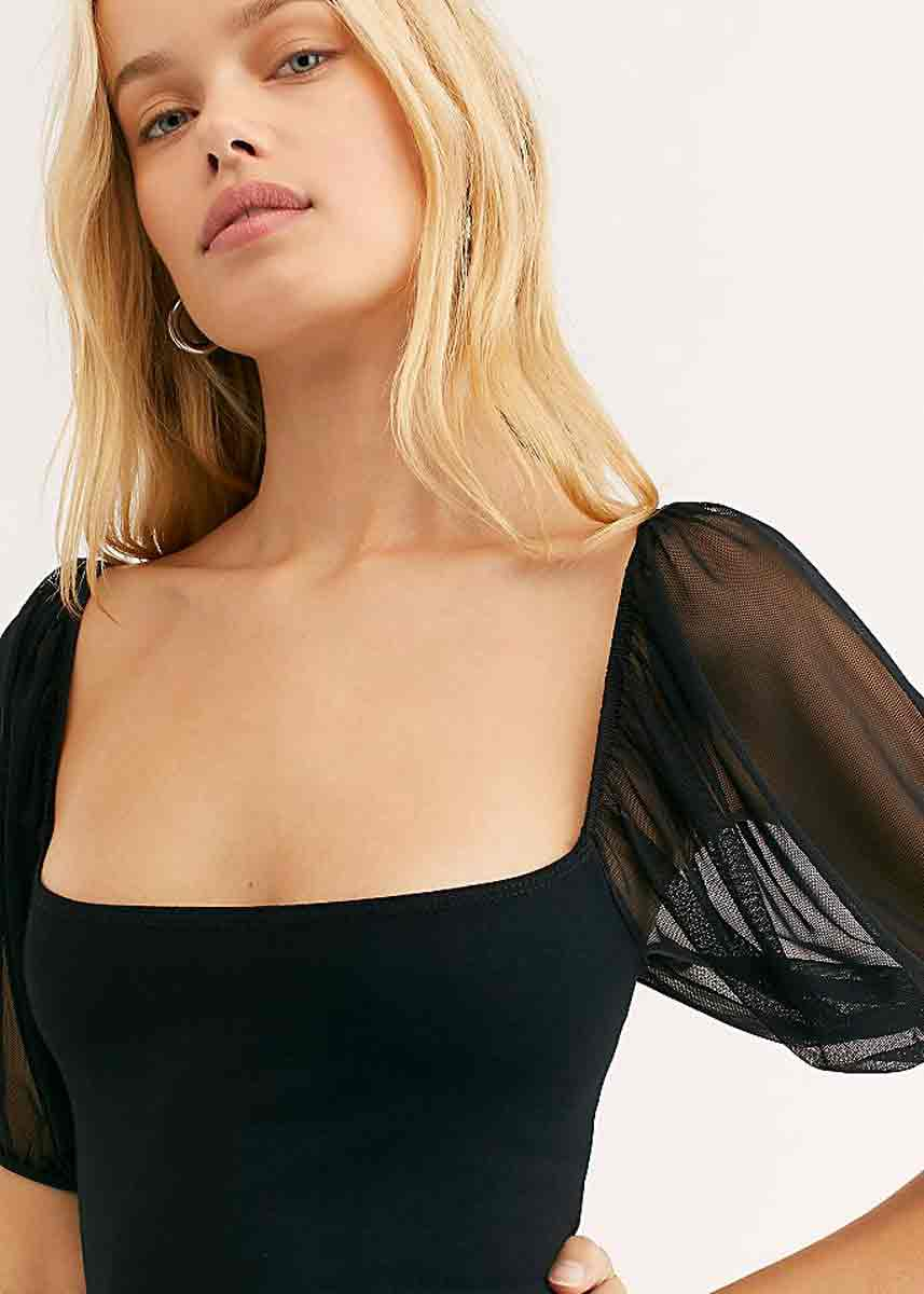 Puff Sleeve Cami - Black