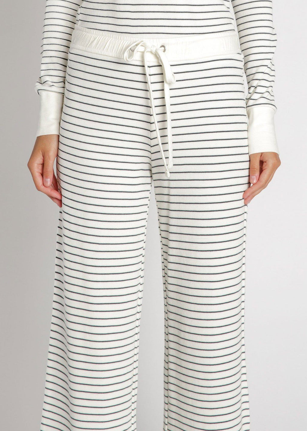 Pre-Order: Carlisle Thermal Pants - Ivory Stripe