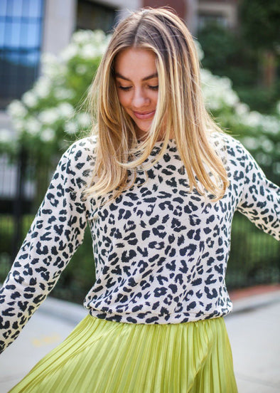 Cat Nap Leopard Sweater