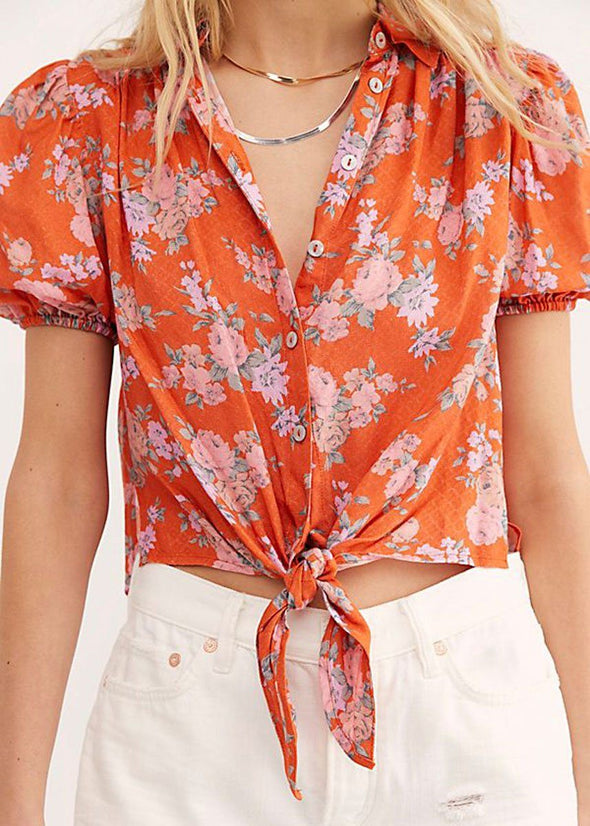 Celia Printed Blouse - Pop Combo