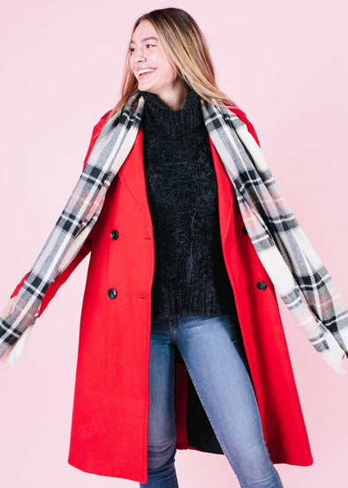 Cala Oversized Red Trench