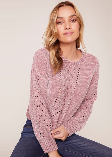 Chenille My Love Sweater - Rose Quartz