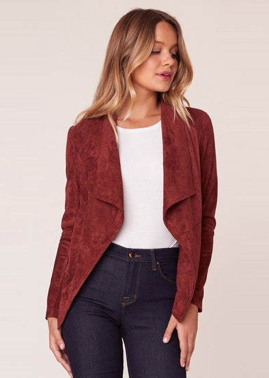 Wade Faux Suede Jacket - Cherrywood