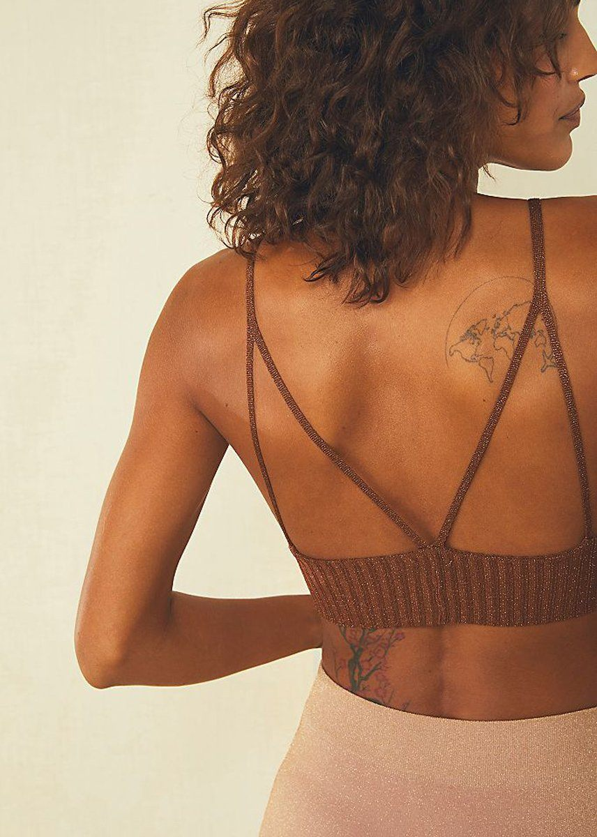 Ellery Sweater Longline Bralette - Copper