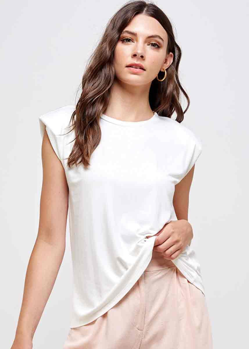 Padded Muscle Tee - Off White