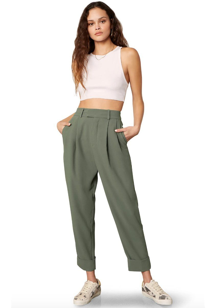Crop Motion Pant - Bottle Green