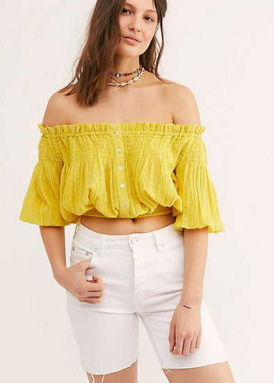 Dancing Til Dawn Top - Yellow