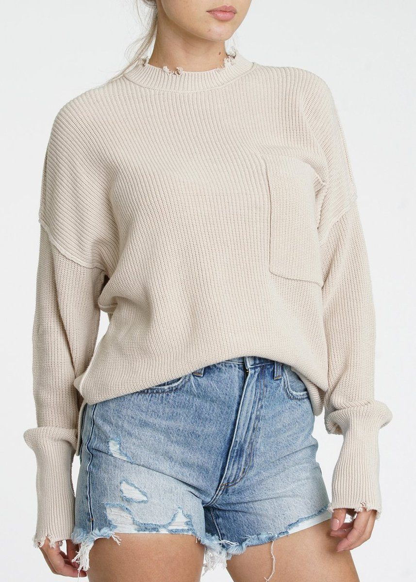 Darya Oversized Crewneck - Dove