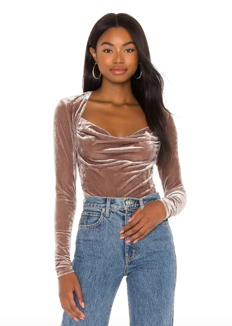 Perfect Date Top - Taupe Stone