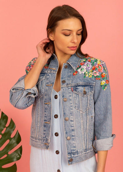 Levi's Ex-Boyfriend Trucker Jacket - Hearts of Flowers