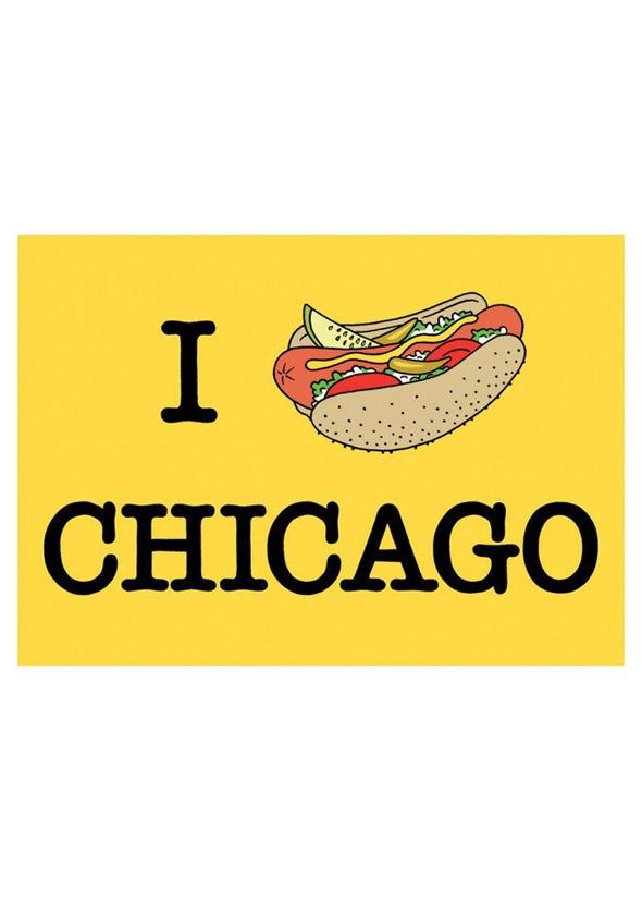 I Hotdog Chicago Postcard