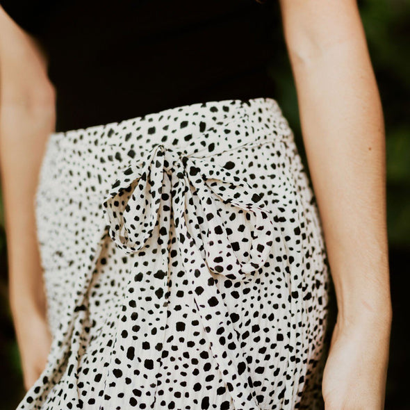 Dahlia Spotted Wrap Skirt