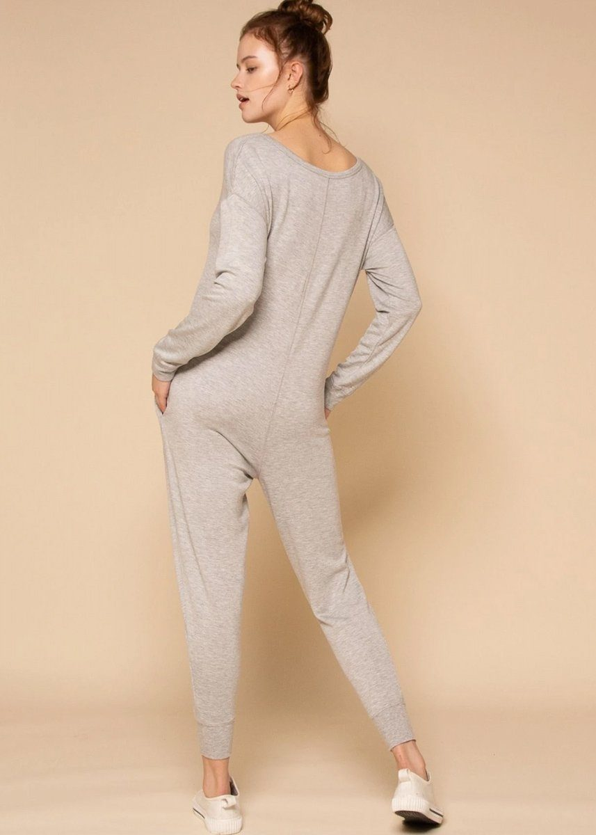 Sweet Dreams Jumpsuit - Heather Storm