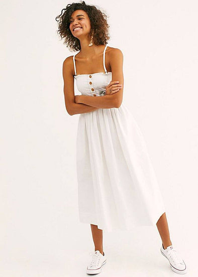 Lilah Pleated Tube Dress - White