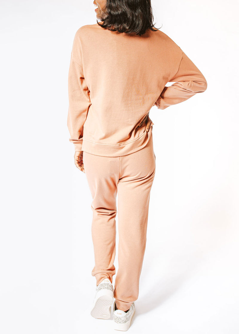 All Day Sweatsuit Set - Dusty Rose