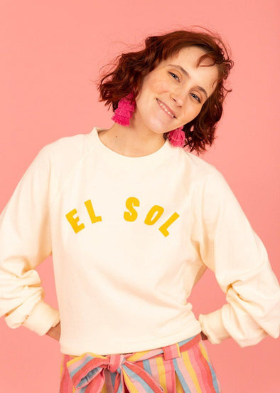 Shore Waves Cropped Sweatshirt - El Sol