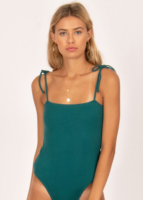 Pineapple Kiss Bodysuit - Emerald