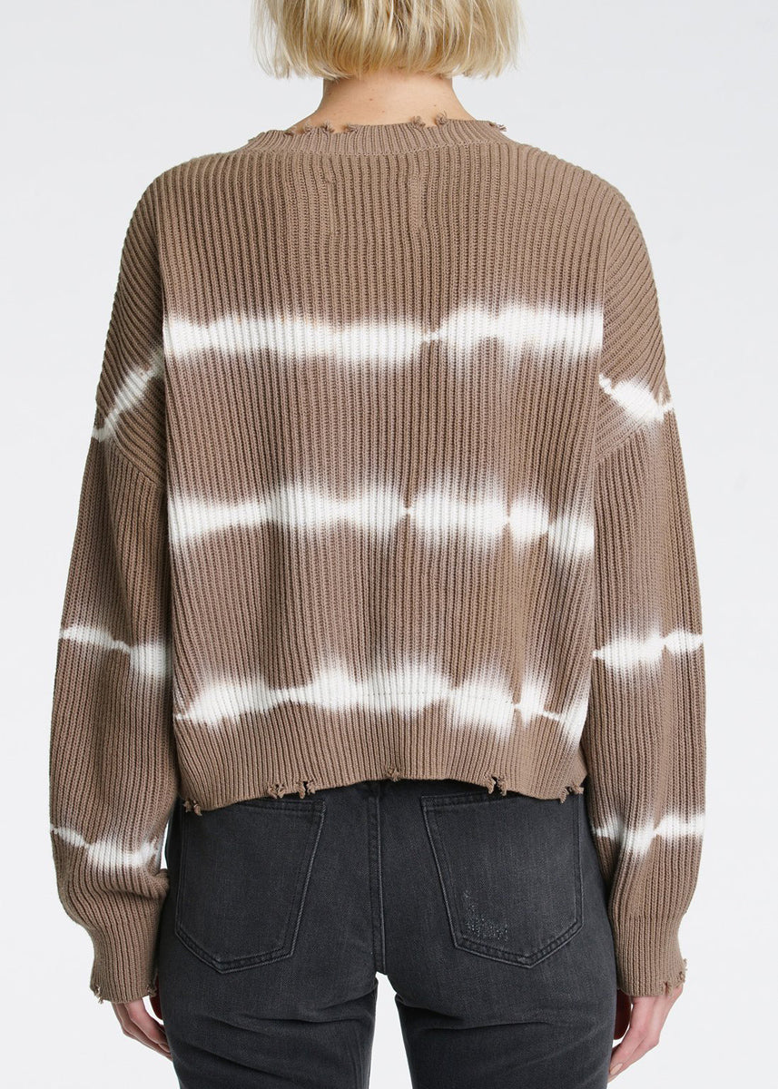 Eva Cropped Sweater - Taupe
