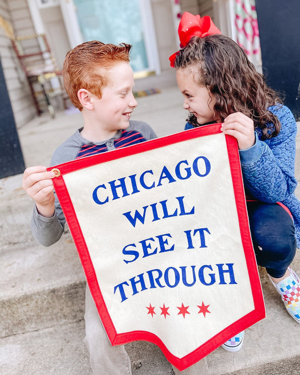 Pre-Order: Chicago Will See It Through Camp Flag - Oxford Pennant Exclusive
