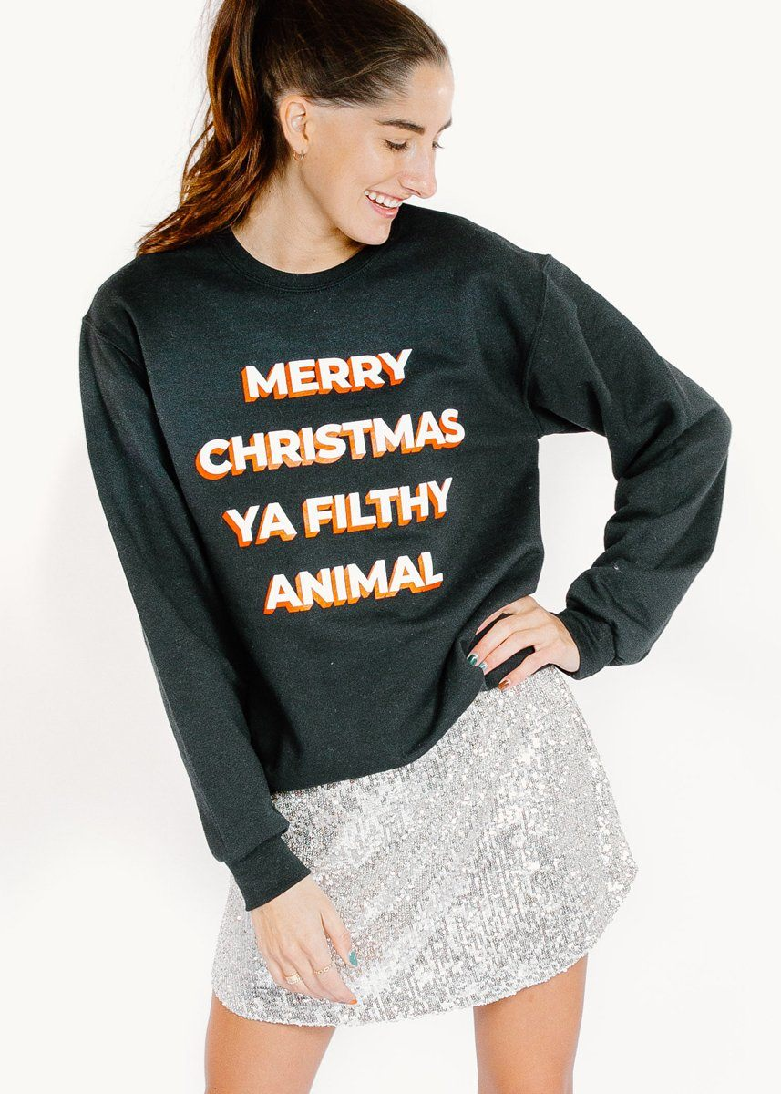 Ya Filthy Animal Sweatshirt - Black