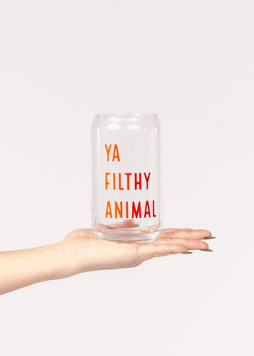 Ya Filthy Animal Beer Glass - 16 oz