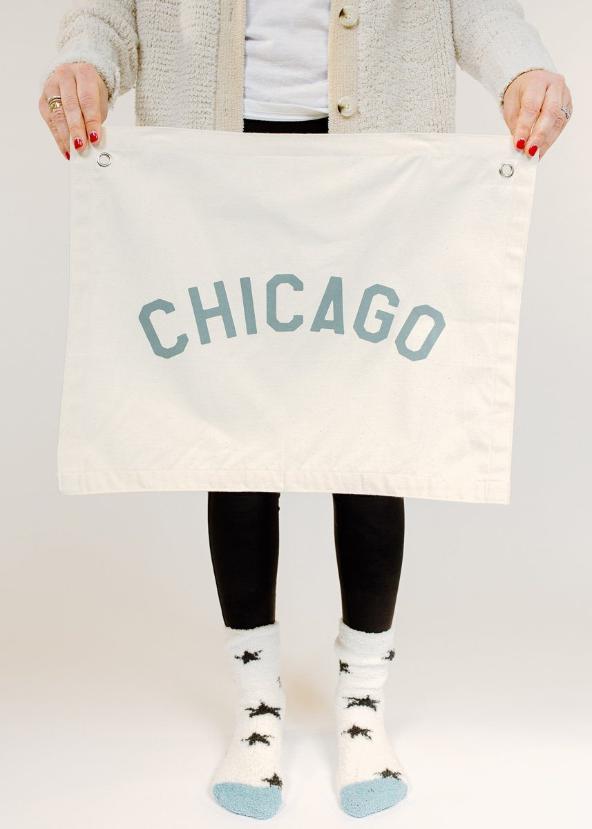 Chicago Canvas Banner - Sage