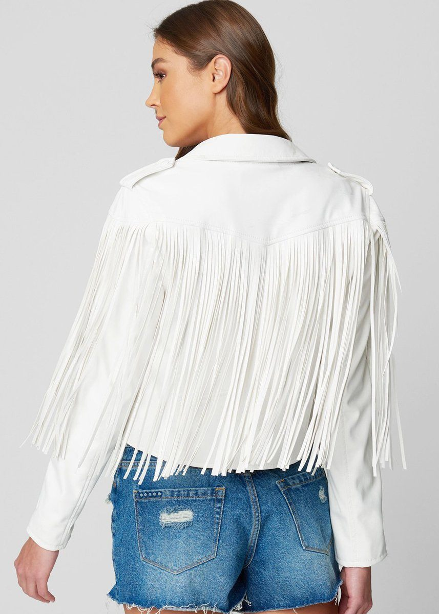 Vegan Leather Fringe Jacket - The Real Deal