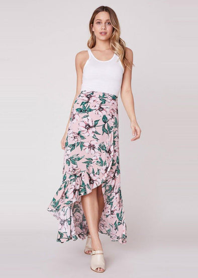 Halo Wrap Maxi Skirt