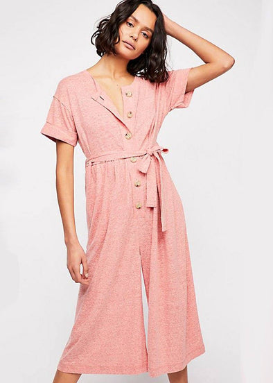 Lighthouse Jumpsuit - Red