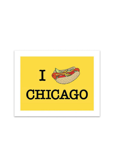 Chicago Hot Dog - Art Print