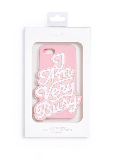 I Am Very Busy - Silicone iPhone 7 Case