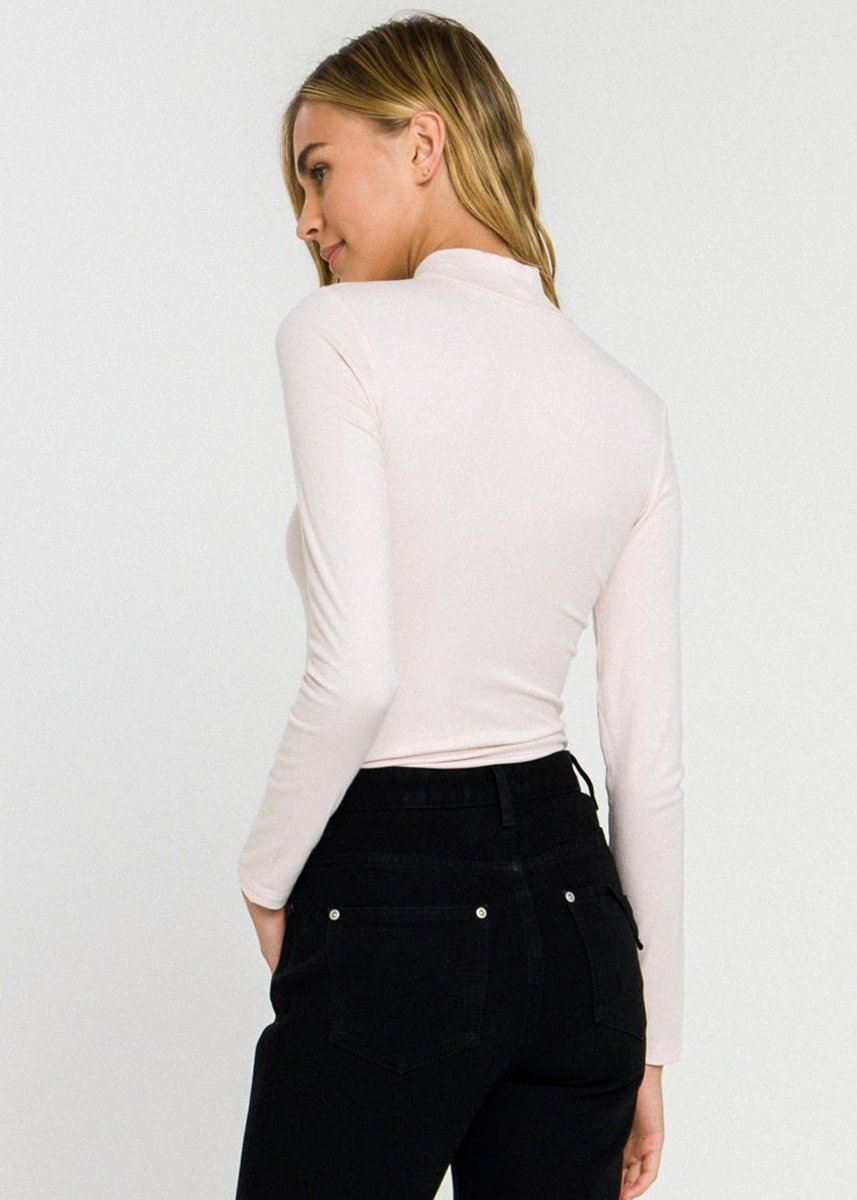 Rainey Turtleneck Top - Ivory