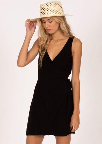 Jet Lag Mini Dress - Black