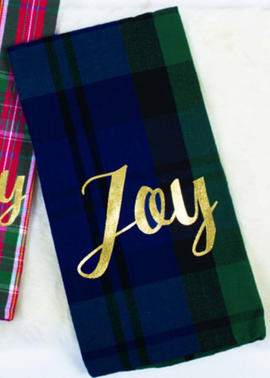 Watch Plaid Kitchen Towel - Joy: Set of Two