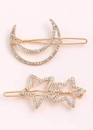 Jumbo Moon And Star Clip Set