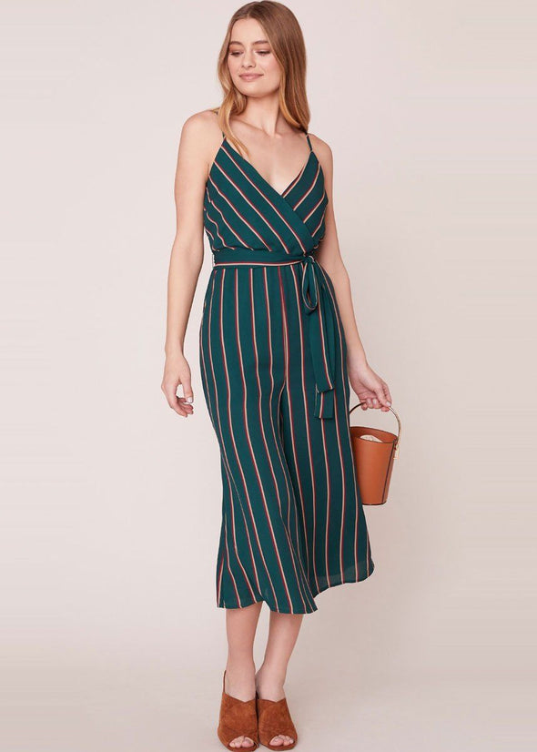 Cross The Line Striped Jumpsuit