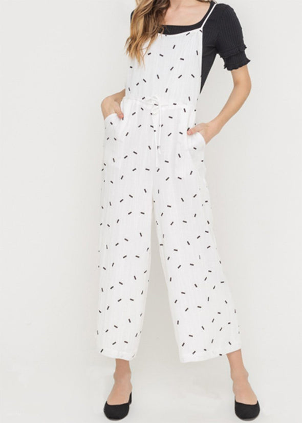 Line and Dot Tunic Overalls