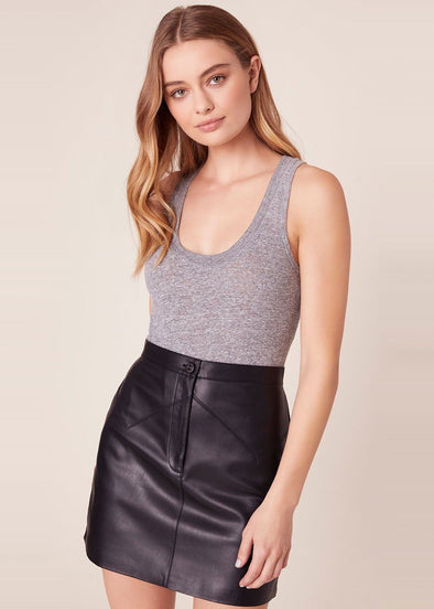 Keep Livin' Vegan Mini Skirt - Black