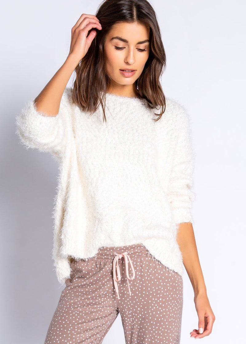 Knobby Knit Sweater - Natural