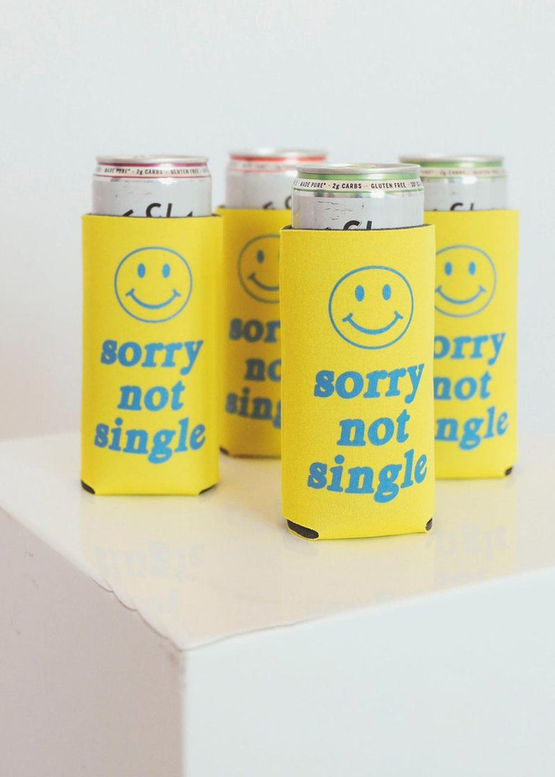 Sorry Not Single Tall Drink Koozie