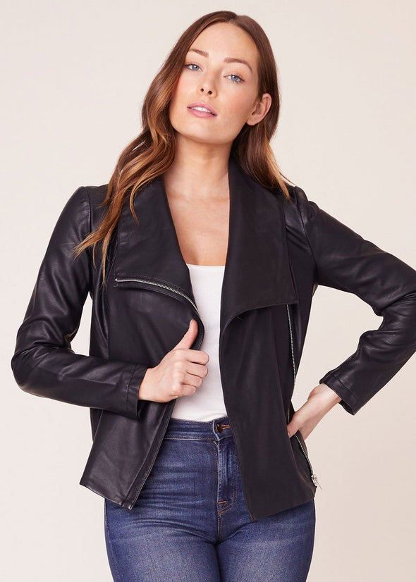 Up To Speed Vegan Leather Jacket