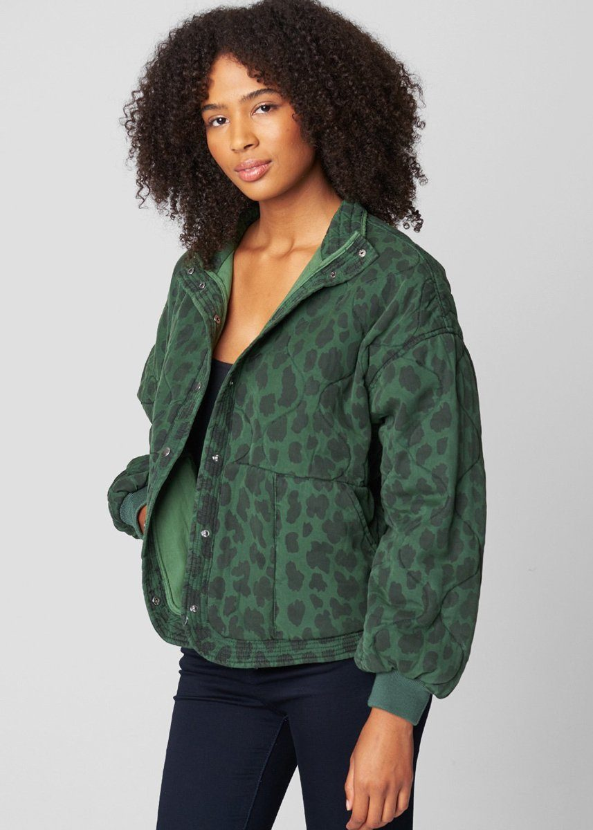 Tencel Drop Shoulder Quilted Jacket - Animal Instincts