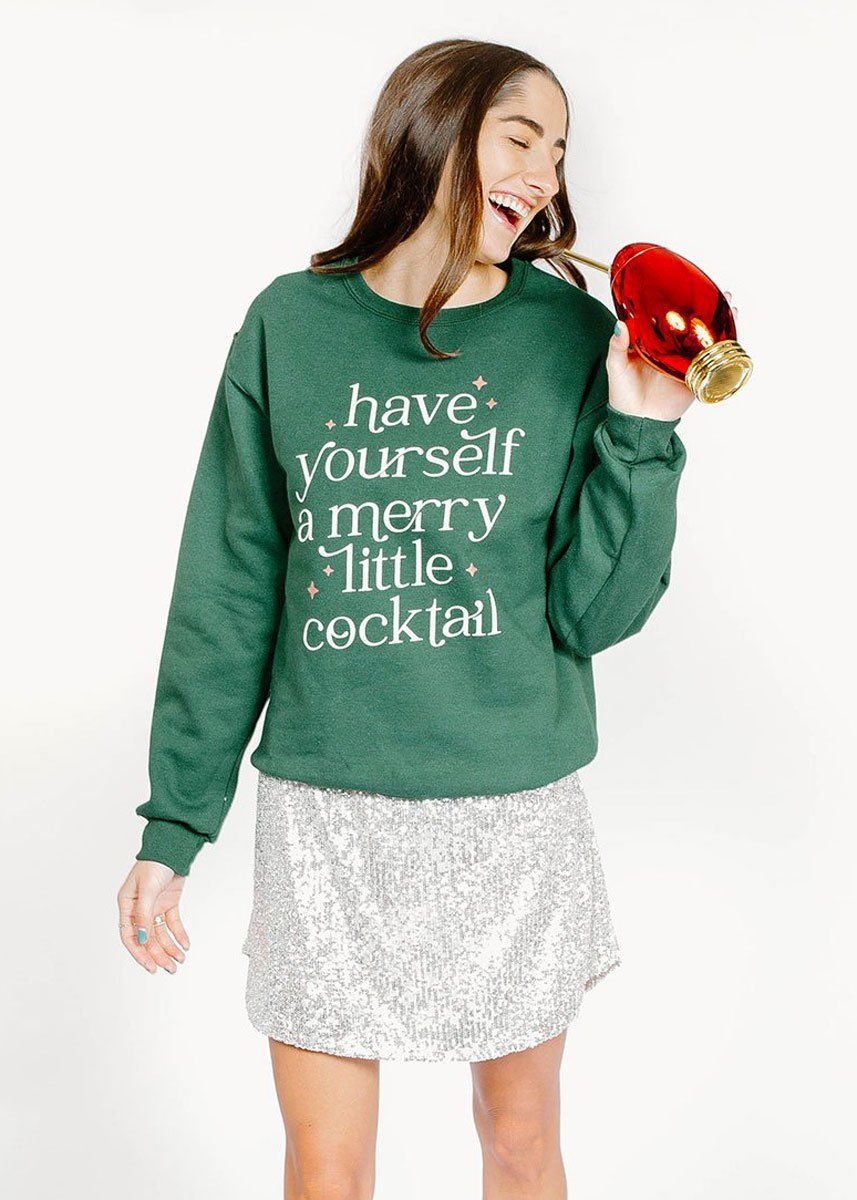 Merry Little Cocktail Sweatshirt