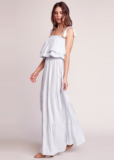 Live Laugh Layer Maxi Dress - Light Blue