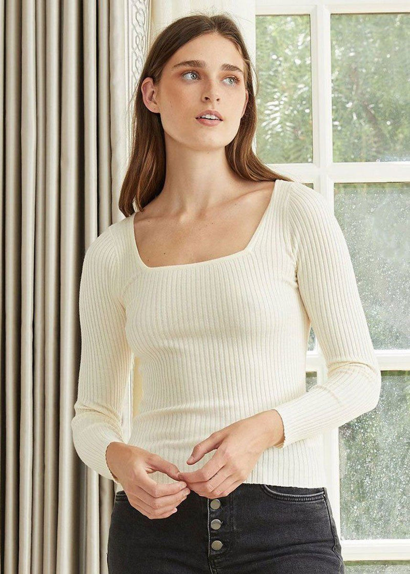 Calais Knit Sweater - Cream