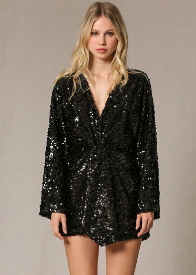 Major Sequins Twist Front Dress